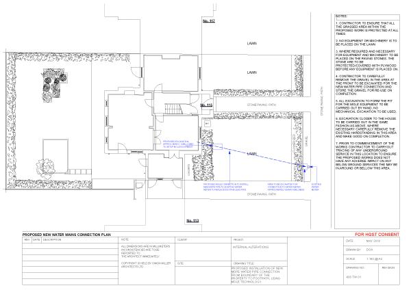 Flow External Plumbing - PROPOSED-WATER-MAINS Technical Drawings London 1